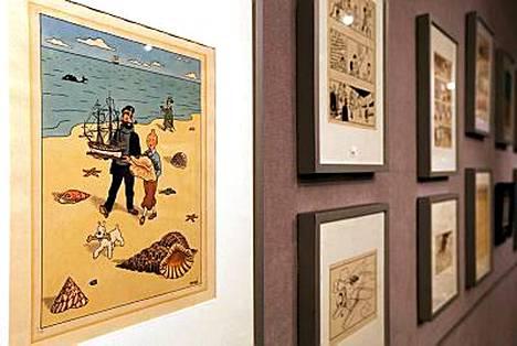 Tämän Tintti ja simpukan kuoret -piirroksen lähtöhinta on 70 000 euroa.
