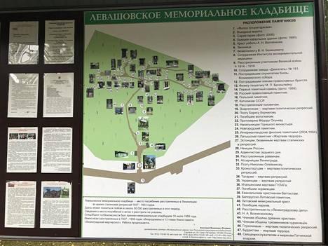 Joukkohaudat sijaitsevat noin 6,5 hehtaarin alueella. Sisäänkäynnin yhteydessä on kartta, joihin on merkitty eri uhriryhmien omat muistoalueet.