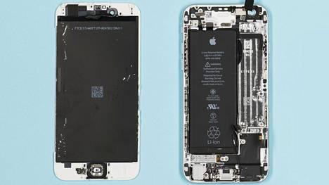 Akun vaihtaminen on monessa laitteessa tehty kotikonstein vaikeaksi. Kuvassa Applen iPhone 6.