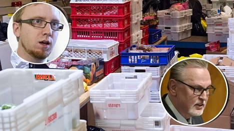 Simon Elo (sin) ja Antero Laukkanen (kd) ovat ajautuneet tukkanuottasille leipäjonoilta leikatun miljoonatuen vuoksi.