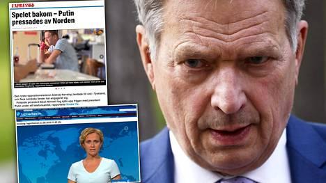 Tasavallan presidentti Sauli Niinistön aktiivisuus huomattiin Ruotsin ja Saksan mediassa.