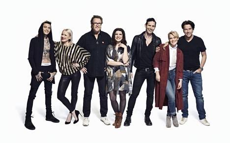 Vain elämää -ohjelmassa esiintyvät Mikael Gabriel, Chisu, Hector, Suvi Teräsniska, Lauri Tähkä, Anna Puu ja Mikko Kuustonen.
