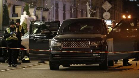 Veriteko tapahtui Ukrainan pääkaupungin Kiovan keskustassa sunnuntai-iltana.