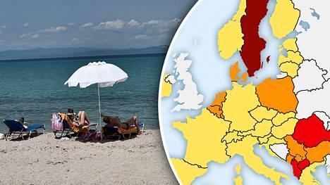 Suomalaisten suosikkikohteeseen Kreikkaan pääsee matkustamaan maista, joissa tartuntatilanne ei ole vielä täysin rauhoittunut.