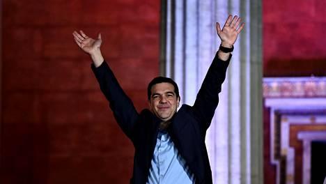 Alexis Tsiprasin vetämä Syriza-puolue voitti Kreikan vaalit.