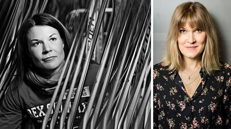 Urheilutoimittaja Laura Arffman (oik.) kirjoitti elämäkerran viime vuoden heinäkuussa syöpään menehtyneestä ex-hiihtäjästä Mona-Liisa Nousiaisesta.