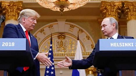 Yhdysvaltain presidentti Donald Trump tapasi Venäjän presidentin Vladimir Putinin Helsingissä heinäkuussa 2018.