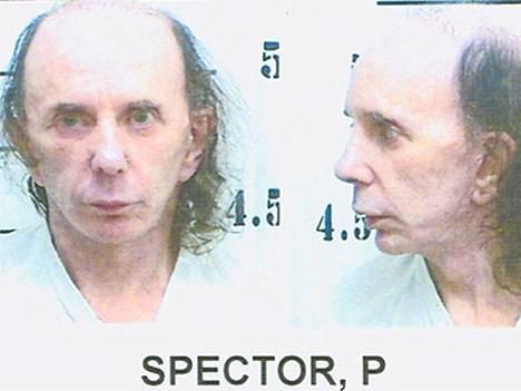 Phil Spector poliisikuvassa - ilman peruukkia.