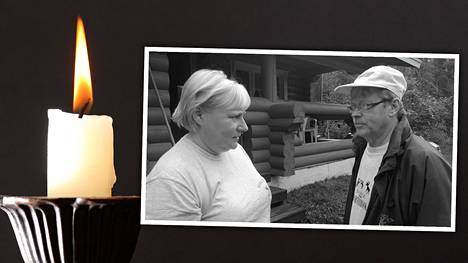 Hannu Penttinen edesmenneen puolisonsa Virve Lehvän kanssa.