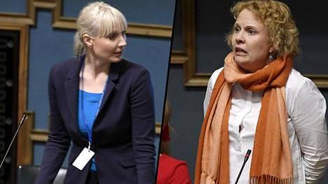 Laura Huhtasaari ei lämmennyt Pilvi Torstin lakialoitteelle.