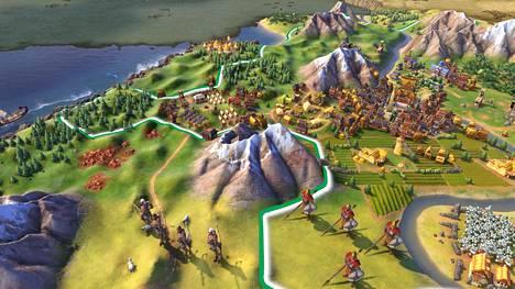 Rajalla on rauhatonta Civilization VI:ssa.