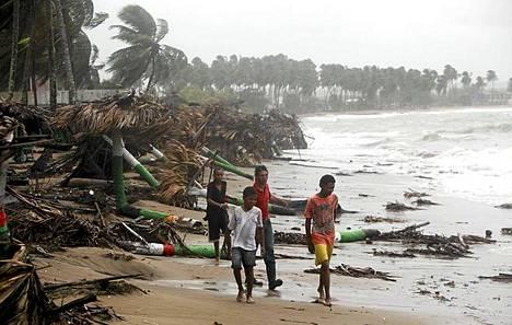 Tällaista jälkeä Irene teki Dominikaanisessa tasavallassa maanantaina.