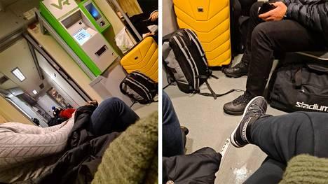 Taajamajunassa 724 Joensuusta Pieksämäelle oli sunnuntaina paljon väkeä.