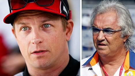 Flavio Briatore (oik.) olisi savustanut Kimi Räikkösen Ferrarilta jo aiemmin ulos.