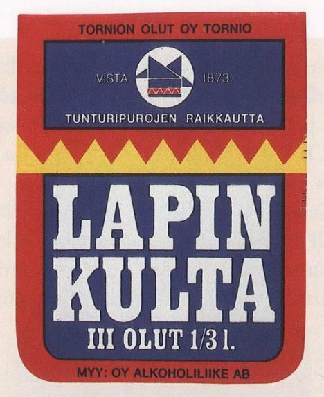 Lapin Kullan etiketti ennen vuotta 1969.