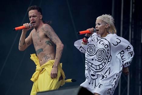 Keskiviikkona esiintynyt eteläafrikkalainen rap-rave-yhtye Die Antwoord oli myös yksi festareiden odotetuimmista.