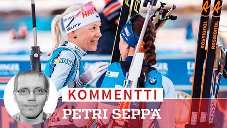 Kaisa Mäkäräinen kilpaili lauantaina viimeistä kertaa urallaan.