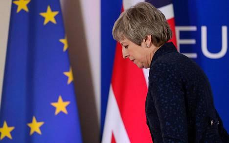 Theresa May Brysselissä.