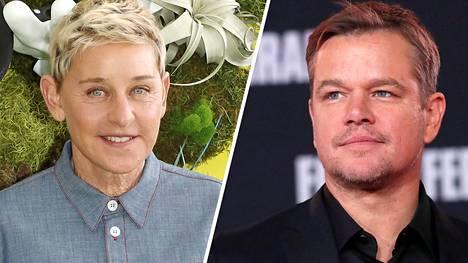 Näyttelijä ja käsikirjoittaja Matt Damon paljasti Ellen DeGeneresin keskusteluohjelmassa lisää yksityiskohtia sukujuuristaan.
