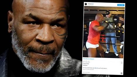 Mike Tyson on rautaisessa vedossa oleva 53-vuotias.