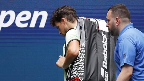 Dominic Thiem (vas.) putosi yllättäen US Openista.
