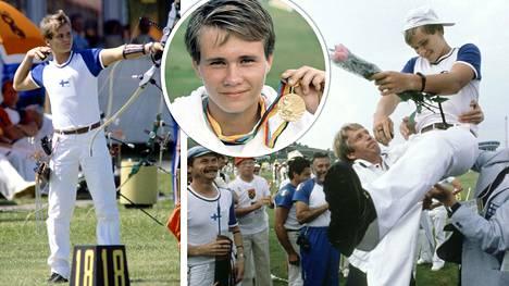 18-vuotias Tomi Poikolainen toi olympiakullan Moskovasta jousiammunnassa elokuussa 1980.