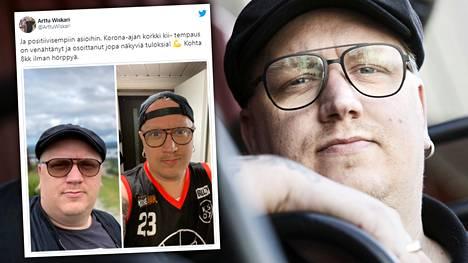 Laulaja Arttu Wiskari julkaisi itsestään kuvaparin ennen ja jälkeen lähes kahdeksan kuukautta kestäneen raittiuden.