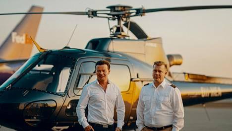 Helsinki Citycopterin perustajat Joonas Nurmi (vas) ja Ari Kallinen.