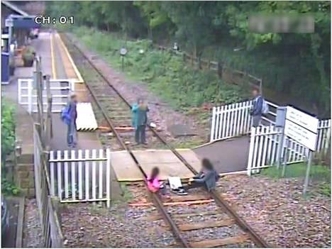 Network Rail julkaisi CCTV-kuvan osoittaakseen ongelman olevan todellinen.