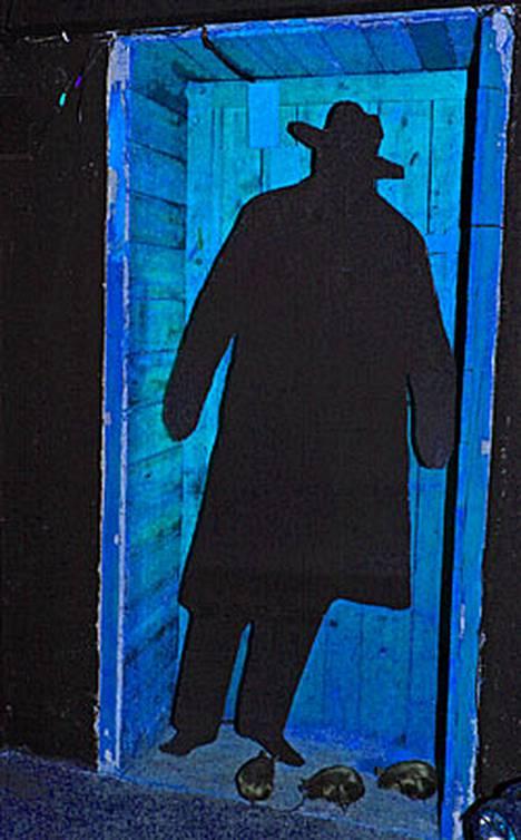 Kuuluisassa kuvassa Harry Lime (Orson Welles) piileskelee Wienin viemäreissä.