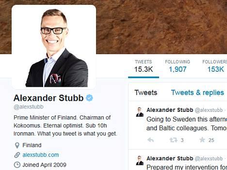 Alexander Stubbin Twitter-sivu.