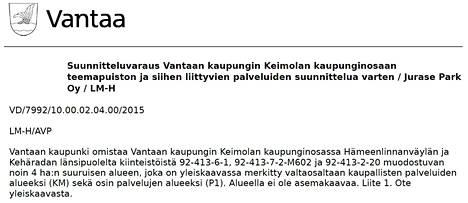 Asiaa käsiteltiin Vantaalla 10.12.2015.