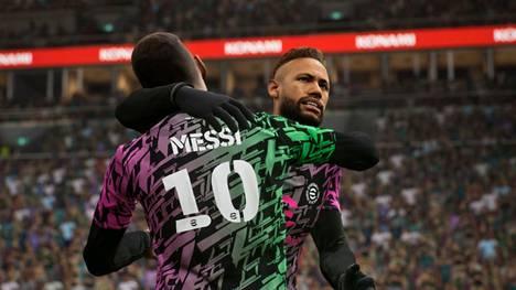 Neymar ja Lionel Messi ovat molemmat eFootballin mainoskasvoja.