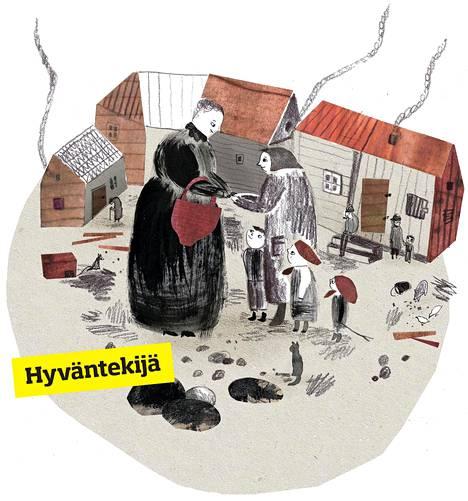 Sanna Pellicioni kuvitti lastenkirjan Minna Canthin uskomaton elämä ja vaikuttavat teot (Teos). Tekstin kirjoitti Leena Virtanen.