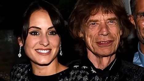 Melanie Hamrick ja Mick Jagger juhlivat yhdessä reilu viikko sitten.