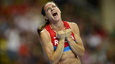 Jelena Isinbajeva Moskovan MM-kilpailuissa 2013.