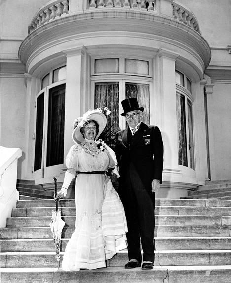 Leonora ja Yrjö Paloheimo museon perustamistilaisuudessa kesäkuun 10. päivänä vuonna 1970.