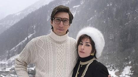 Lady Gaga ja Adam Driver tähdittävät House of Gucci -elokuvaa.