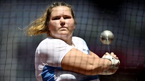 U20-ikäluokan ME-nainen Silja Kosonen otti moukarikisassa omansa.