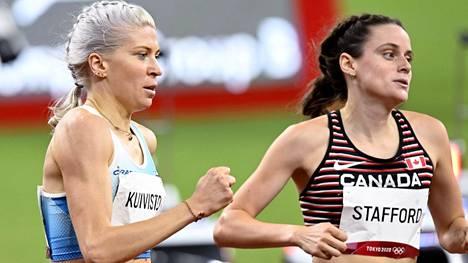 Sara Kuivisto putosi 1500 metrin olympiafinaalista keskiviikkona 0,66 sekunnilla. Kanadan Gabriela Stafford pääsi finaaliin.