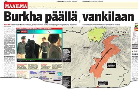 IS kertoi ruotsalaisten pidätyksestä Pakistanissa 18.9.2009 julkaistussa jutussa.