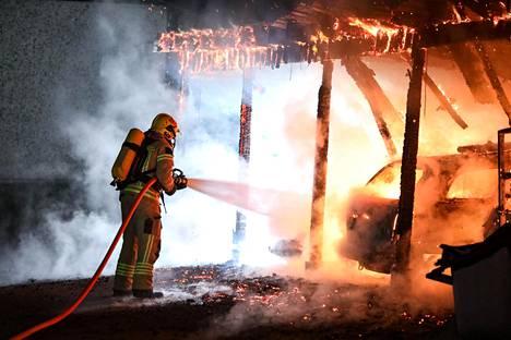 Aitanavaimen tulipalo oli vain muutaman sadan metrin päässä edellisestä palopaikasta.