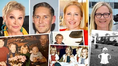 Hannele Lauri, Aleksi Seppänen, Inka Henelius ja Eva Biaudet kertoivat IS:lle lapsuudenkodeistaan.