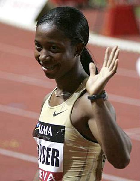 Shelly-Ann Fraser on naisten satasen olympiavoittaja.