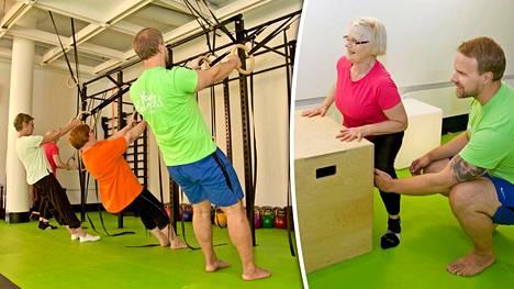 """Annikki, 81, ja Liisa-Kaarina treenaavat kehonpainolla – """"Aika paljon vaivoja on hävinnyt"""""""