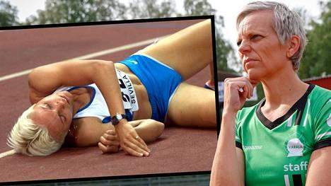 Tiia Hautala vuonna 1999 ja 2019.
