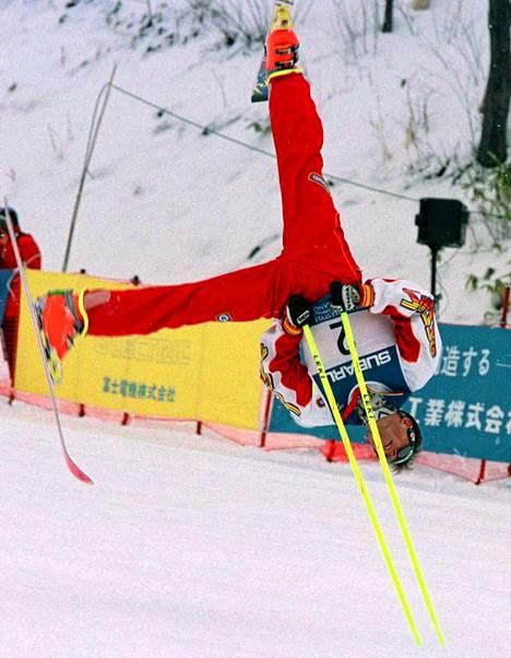 Sveitsin Heini Baumgartner Naganon MM-kisoissa 1997.