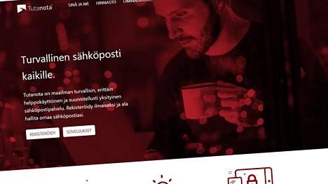 Tutanota on salattua sähköpostia tarjoava, Saksan Hannoverissa pääkonttoriaan pitävä internet-yhtiö. Kuvakaappaus Tutanotan palvelun etusivulta.