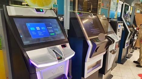 Veikkauksen peliautomaatteja.