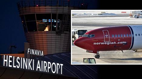 Eilisiltainen Norwegianin lento Kööpenhaminasta pääsi laskeutumaan Helsinki-Vantaalle vasta ylösvedon jälkeen, koska kiitotiellä oli toinen kone. Kuvituskuva.